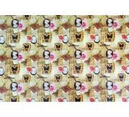 """Подарунковий папір для упаковки  """" Метелика, бабки """", 5 шт/уп"""
