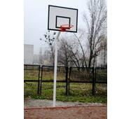 Стойка баскетбольная стационарная уличная Г-образная на одной опоре (вынос фермы до 60 см)