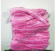 Одноразові шапочки спанбонд рожеві , 100шт/уп.