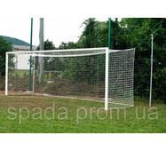 Ворота футбольные 7320х2440 (разборные), алюминиевые Евро Профиль в стакани/ переносные