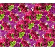 """Подарунковий папір для упаковки  """"Яскраві квіти"""", 5 шт/уп"""