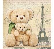"""Подарункові пакети """"Ведмедика в Парижі"""" 23 х 24 см   (6 шт./уп.)"""