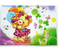 """Пакет для подарунка великий горизонтальний """"Ведмедик з кульками"""" 36х22 см   (6 шт/уп)"""