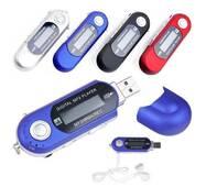 Компактний MP3 плеєр чорний  4 в 1 (USB   карта пам'яті   кардридер радіо )