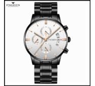 Часы наручные Fngeen Fenz 5055 белый циферблат метки Золото Число ФлуоресцентныеВодонепроницаемые