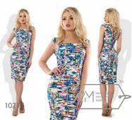 Платье-футляр мини женское,норма р.S,М,L  Фабрика Моды
