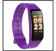 Смарт браслет C1S фиолетовый (Шагомер, уведомления о вызовах и смс, пульсометр, датчик давления)