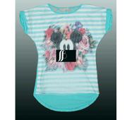 Красива стильна футболка 3d для дівчинки