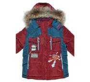 Куртка зимняя для мальчика на био-пухе. Опушка-мех енота Bilemi