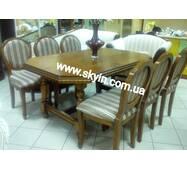 Стіл зі стільцями у вітальню з масиву дерева серії Олімп