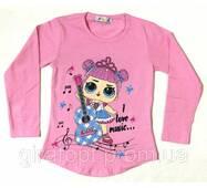 Туніка Я люблю музику (Лялечки Лол) рожева на  3-6 років