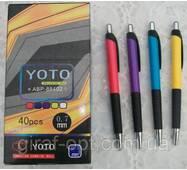 Ручка шариковая YOTO, автоматическая, цвет синий (АВР-88402)
