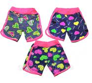 """Дитячі літні шорти для дівчинки на 5-8 років """"Серця"""""""