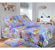 """Детский полуторный комплект постельное белье из бязи голд """"Игра  в котики"""""""