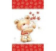 """Подарочные пакеты """"Мишка с цветами"""" 17 х 26 см  (6 шт/уп)"""