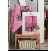 "Набор турецких полотенец Merzuka Cotton Butterfly 2-ка""розовый"""