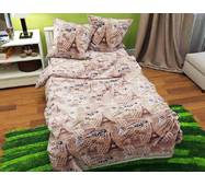 Двоспальний комплект постільної білизни з бязи голд