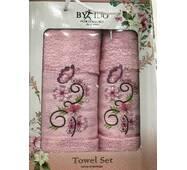 Набор махровых полотенец Турция 2ка (50x90 и 70x140)Розовый