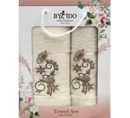 Набор махровых полотенец Турция 2ка (50x90 и 70x140)Молочный