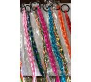 Волосы цветные на резинках волнистые