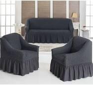 "Чехол на диван+2 кресла (Макси размер) ТМ"" Kayra"".Турция. -серый"