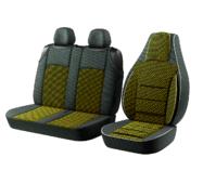 Автомобильные чехлы для авто для сидений Авто чехлы накидки майки для микроавтобусов Пилот BUS 2+1 на Желтый