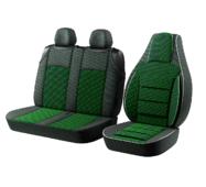 Автомобильные чехлы для авто для сидений Авто чехлы накидки майки для микроавтобусов Пилот BUS 2+1 на Зеленый