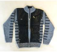 Вязанная кофта синего цвета 10-14 лет