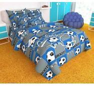 """Дитячий комплект постільної білизни"""" футбол синій"""""""