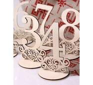 Рассадочная карточка из дерева «Цифры»
