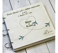Свадебная книга пожеланий из дерева
