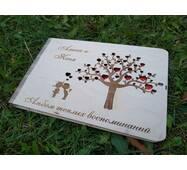 Гостевая книга пожеланий из дерева на свадьбу