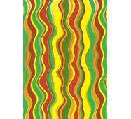 Папір пакувальний з пантоном кольорові хвилі, 5 шт/уп