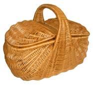 """Плетений кошик для пікніка Корал """"Індонезія"""""""