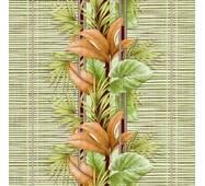 Шпалери паперові вологостійкі Тропіки 3 зелені 2038