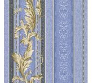 Шпалери паперові Континент Версаче синій 1222