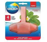 Блок для унітаза освіжуючий Sanobon з ароматом полуниці до 800 зливів 55 гр.