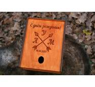 Подарункова скринька з дерева з Вашим малюнком, написом