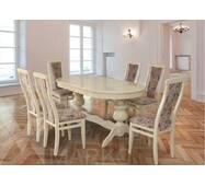 Овальний стіл Лео зі стільцями Марек 4(слонова кістка)
