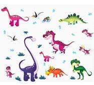 """Интерьерная наклейка в детскую """"Веселые динозаврики"""" ABC1045"""