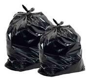 Мешки полиэтиленовые для мусора черные суперплотные 100 мкм (50 шт/уп)