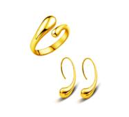 Набор кольцо и серьги Abbelin золотистый P203, Uni