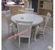 Стіл круглий Марго IV зі стільцями з дуба