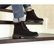 Мужские зимние ботинки черные Timberland 8546