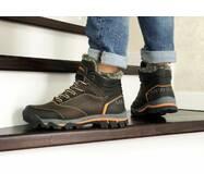 Мужские зимние ботинки коричневые Merrell 8624
