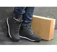 Мужские зимние ботинки темно синие Timberland 6829