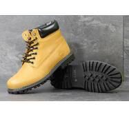 Мужские зимние ботинки Timberland рыжие 3778
