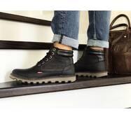 Мужские зимние ботинки черные Levis 8516