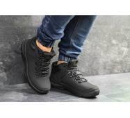 Мужские зимние ботинки черные Ecco Biom 6836