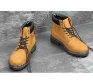 Мужские зимние ботинки Timberland рыжие 3515